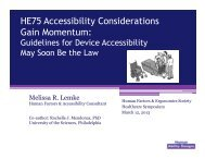 HE75 Accessibility - Human Factors and Ergonomics Society