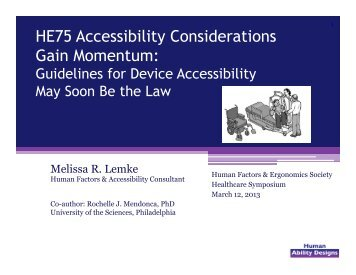 HE75 Accessibility - Human Factors and Ergonomics Society