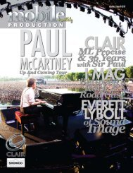 Paul McCartney - Up And Coming Tour - Mobile Production Pro