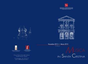 Musica in Santa Cristina 2012/2013 - Bologna Welcome