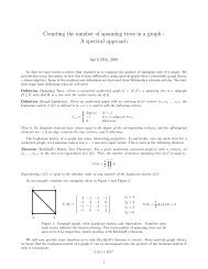 Counting the number of spanning trees in a graph - A spectral ...