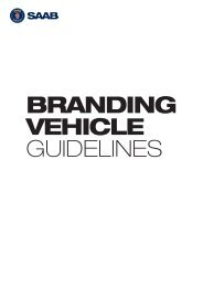 BRANDING VEHICLE GUIDELINES - Saab