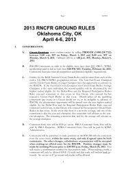 2013 RNCFR Ground Rules Final - Women's Pro Rodeo Association