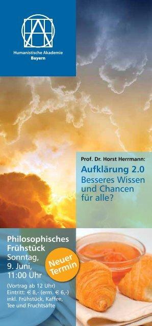 Aufklärung 2.0 Besseres Wissen und Chancen für alle? Neuer Termin
