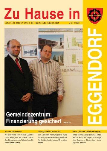 Finanzierung gesichert Seiten 6/7 - Gemeinde Eggendorf