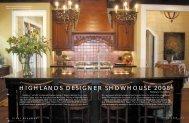 Highlands Designer Showhouse 2008 - Views Magazine Website
