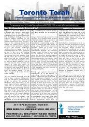 Toronto Torah - YU Torah Online