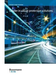 Product Range Overview - Cooper Bussmann