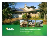 From Technology to Product: Small Solar Growing Big - svpma