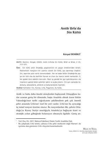Antik Urfa'da Sin Kültü