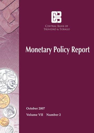 October 2007 Report - Central Bank of Trinidad and Tobago