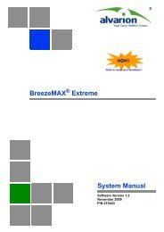 BreezeMAX Extreme System Manual, Ver.1.2 - Alvarion