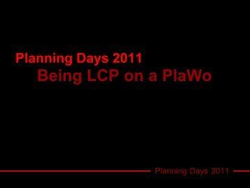 Planning Days 2011 - Morena Francia