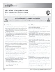 ES-A Series Photovoltaic Panels - Solar Direct Canada