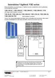 Instruktion VÃ¥gblock VB2 serien - Vetek