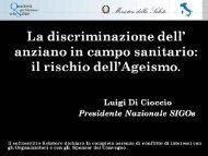 Dr. Luigi Di Cioccio - Quaderni del Ministero della Salute