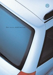 Golf IV Variant Golf IV Variant - 04/1999 - Volkswagen Classic