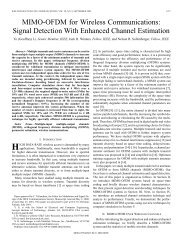 MIMO-OFDM for wireless communications: signal detection with ...