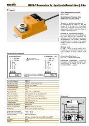 NM24-F Servomoteur de clapet (emboîtement direct) 8 Nm ... - Belimo