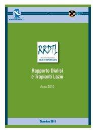 Rapporto Dialisi e Trapianti Lazio - Agenzia di Sanità Pubblica della ...
