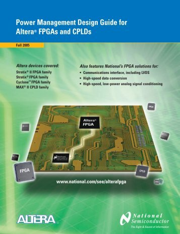 Power Management Design Guide for Altera® FPGAs and CPLDs ...