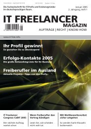 IT Freelancer Magazin Nr. 1/2005