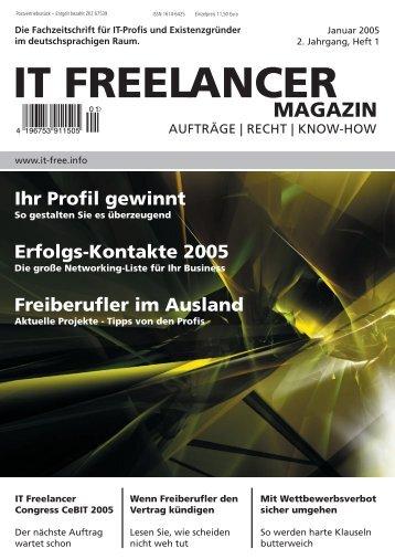 IT Freelancer Magazin Nr. 1/2005