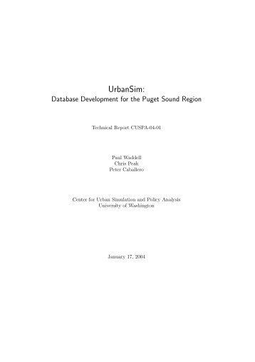 UrbanSim: Database Development for the Puget Sound Region
