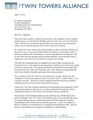 Twin Towers Alliance Letter to the GSA Administrator - The Twin ...