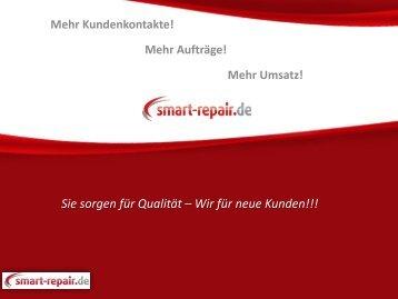 Sie sorgen für Qualität – Wir für neue Kunden!!!
