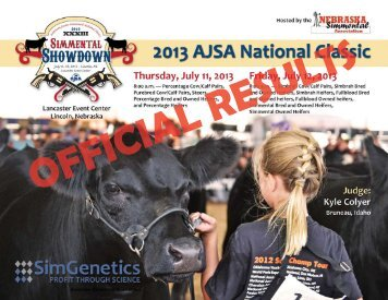 National Classic Results - American Simmental Association