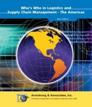 Who's Who in Logistics and Supply Chain Management - Armstrong ...