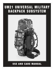 um21 universal military backpack subsystem - Load Bearing ...