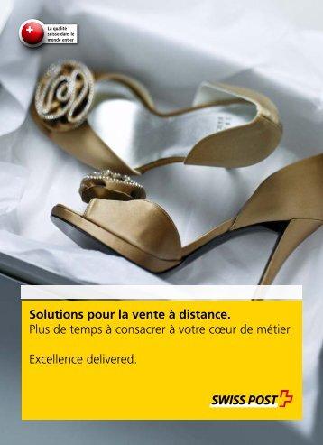 Solutions pour la vente à distance.
