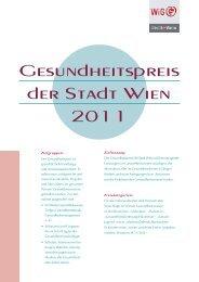 Gesundheits preis der Stadt Wien 2011 Gesundheits preis der Stadt ...