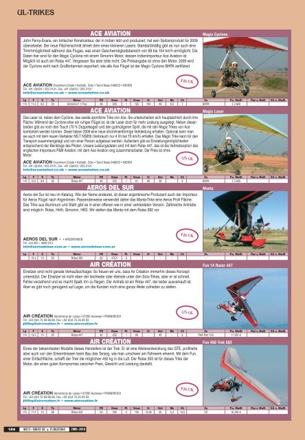 Trikes - Flying-directory.com
