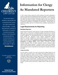 Information for Clergy As Mandated Reporters - Children's Law ...
