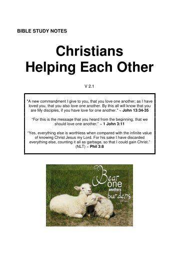 Christians Helping Each Other - Origin of Nations