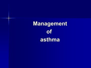 Mgmt of Asthma - The Lung Center
