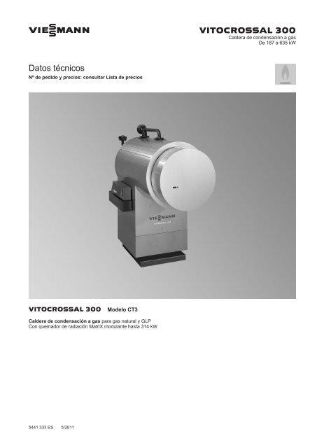Datos técnicos Vitocrossal 300 CT3B1.3 MB - Viessmann