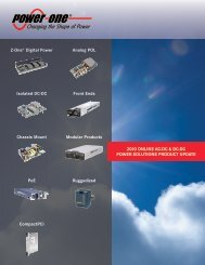 2010 Online AC-DC & DC-DC Power Solutions ... - Power-One