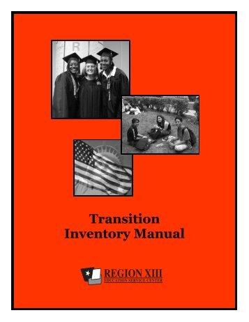 Transition Inventory Manual - Region 13
