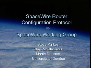 Router Configuration port access/configuration ... - SpaceWire