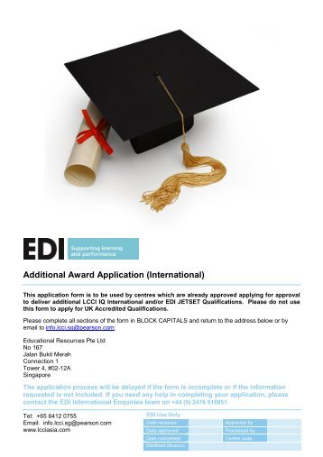 RTC Additional Award Application Form - Home - LCCI International ...
