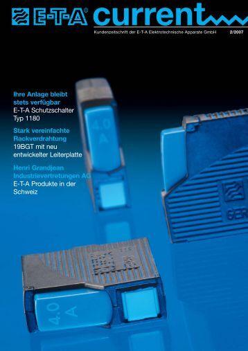 Ihre Anlage bleibt stets verfügbar E-T-A ... - FlowVision GmbH