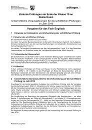 Vorgaben Englisch 2010 - Theodor-Heuss-Schule