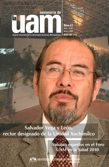 Salvador Vega y León, rector designado de la Unidad Xochimilco