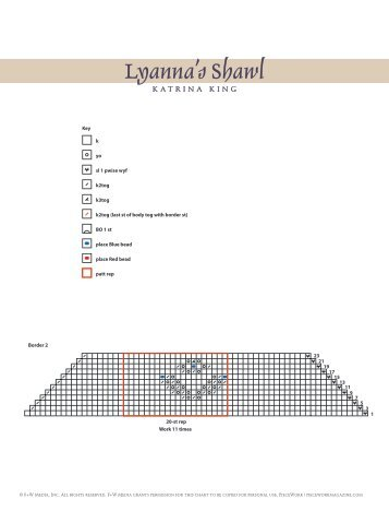 Lyanna's Shawl, pages 26-30 - Interweave