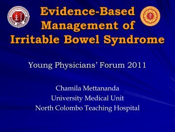 Evidence-Based Management of Irritable Bowel Syndrome