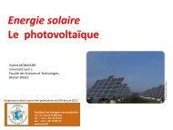 Solaire photovoltaique - Patrick MONASSIER